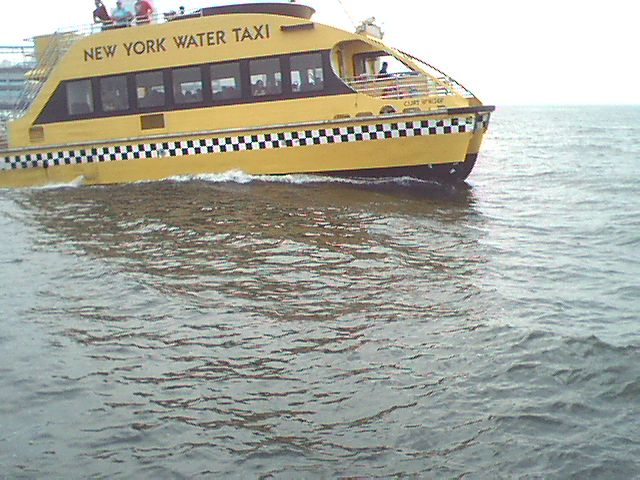 The New York River Taxi taken with my Tungsten C and Veo camera
